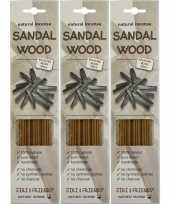 3x pakje jiri and friends luxe wierook stokjes sandelhout geur trend