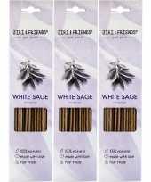 3x pakje jiri and friends luxe wierook stokjes witte salie geur trend