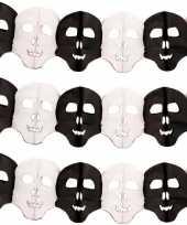 3x papieren halloween doodshoofd slingers 6 meter trend