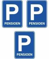 3x pensioen met de vut deurborden 47 x 33 cm trend