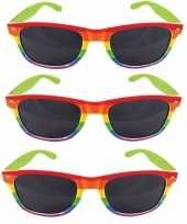3x regenboog feest brillen voor volwassenen trend