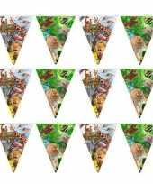 3x safari jungle themafeest vlaggenlijn 10 meter trend