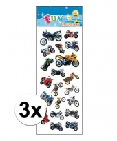 3x stickervel motorfietsen trend