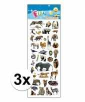 3x stickervellen dierentuin dieren trend
