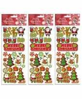 3x stickervellen kerst thema trend