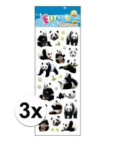 3x stickervellen pandaberen trend
