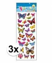 3x stickervellen vlinders trend