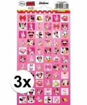3x stuks school stickers minnie mouse trend