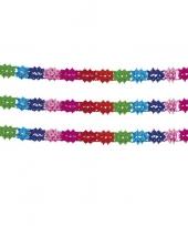 3x stuks slingers in regenboog kleuren 6 m trend
