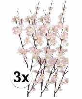 3x tak met roze appelbloesems 84 cm trend