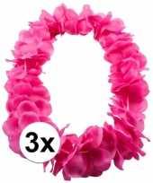 3x tropical krans neon roze trend