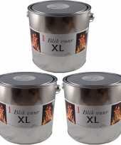 3x tuinfakkels vuur verlichting blik 16 5 x 15 cm 6 12 branduren trend