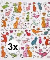 3x velletjes kinder agenda stickers katten trend