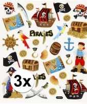 3x velletjes kinder agenda stickers piraten trend