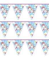 3x vlaggenlijn eenhoorn thema feestje 10 mtr trend