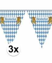 3x vlaggenlijnen oktoberfest van 5 meter trend