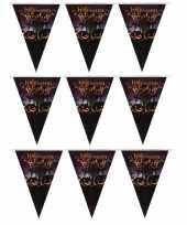 3x vlaggenlijnen slingers halloween party 250 cm trend