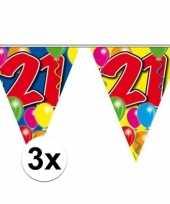 3x vlaglijn 21 jaar 10 meter trend