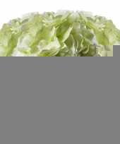 3x wit groene hortensia kunstbloemen tak 28 cm trend
