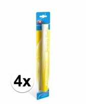 4 gele bengaalse fakkels 36 cm 60 sec trend