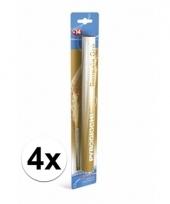4 gouden bengaalse fakkels 36 cm 60 sec trend