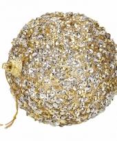 4 gouden kerstballen 7 cm trend