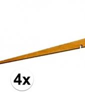 4 kampeerartikelen houten tentharingen trend