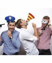 4 politie photo props op stokje trend