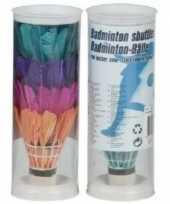 4 stuks badminton shuttles gekleurd trend