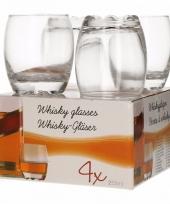 4 stuks whisky glazen 255 ml trend