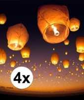 4 x witte wensballon 50 x 100 cm trend