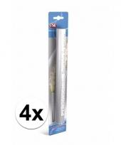 4 zilveren witte bengaalse fakkels 36 cm 60 sec trend