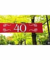 40 jaar decoratie banner 180 x 40 cm trend