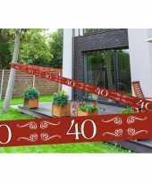 40 jaar decoratie markeerlint trend