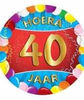40 jaar feest onderzetters trend