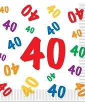 40 jaar servetten 16 stuks trend