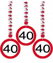 40 jaar versiering stopbord trend