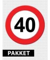 40 jarige verkeerbord decoratie pakket trend