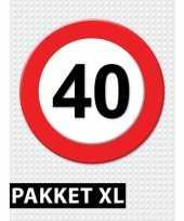 40 jarige verkeerbord decoratie pakket xl trend