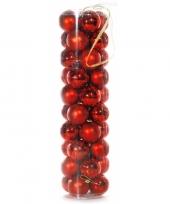 40 rode kerstballen van plastic trend