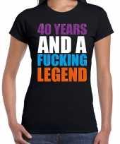 40 year legend 40 jaar legende cadeau t-shirt zwart dames trend