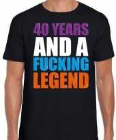 40 year legend 40 jaar legende cadeau t-shirt zwart heren trend