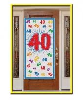 40e verjaardag decoratie poster trend