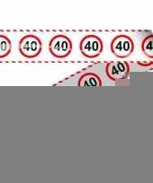 40e verjaardag markeerlint stopbord trend
