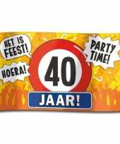 40e verjaardag straatvlag 100x150 cm trend