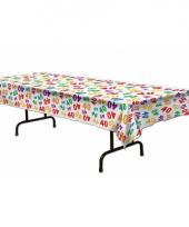 40e verjaardag versiering tafelkleed trend