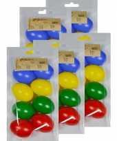 40x gekleurde kunststof eieren decoratie 6 cm hobby trend
