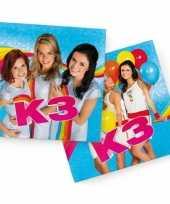 40x k3 themafeest servetten blauw 33 x 33 cm papier trend