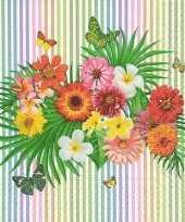 40x tropische bloemen zomer thema servetten 33 x 33 cm trend
