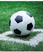 40x voetbal thema servetten 33 x 33 cm trend